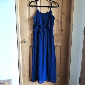 Xhilaration Navy Flowy Maxi Dress